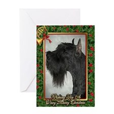 Giant Schnauzer Dog Christmas Greeting Card