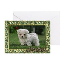 Maltese Dog Christmas Greeting Cards (Pk of 10)