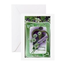 Good Luck Wishes Sincere Greeting Cards (Pk of 10)