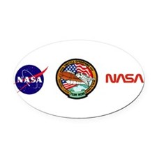KSC Shuttle Operations Oval Car Magnet