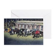 Greyhound Racing Greeting Card