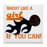 Shoot Like a Girl Tile Coaster