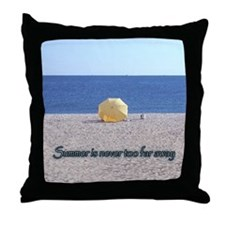 Cute Beach umbrella Throw Pillow