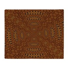 Aboriginal Moons Throw Blanket