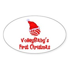 VolleyBaby's First Christmas Oval Sticker