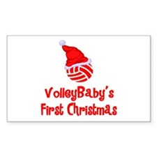 VolleyBaby's First Christmas Rectangle Sticker