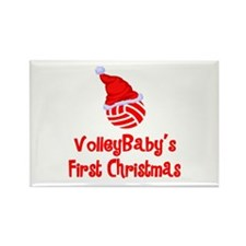 VolleyBaby's First Christmas Rectangle Magnet