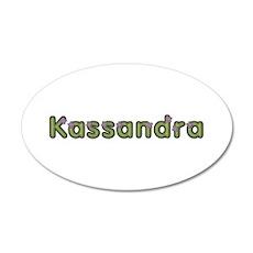 Kassandra Spring Green 20x12 Oval Wall Decal
