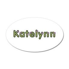 Katelynn Spring Green 20x12 Oval Wall Decal
