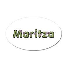 Maritza Spring Green 35x21 Oval Wall Decal