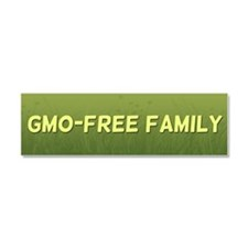 GMO-Free Family car magnet