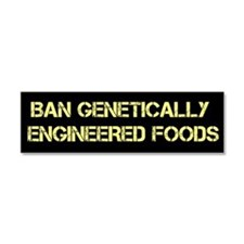 Ban Genetically Engineered Foods car magnet