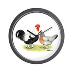 Dorking Chickens Wall Clock