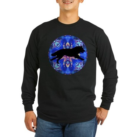 Running Wolf Long Sleeve Dark T-Shirt