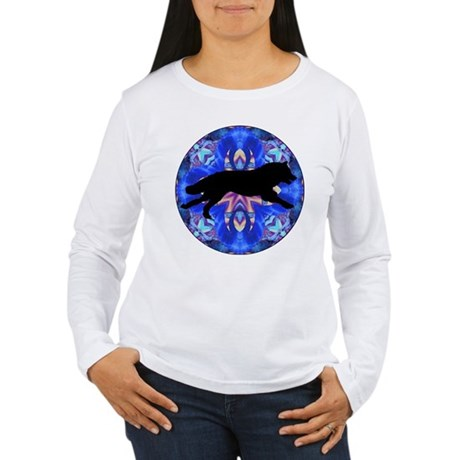 Running Wolf Women's Long Sleeve T-Shirt