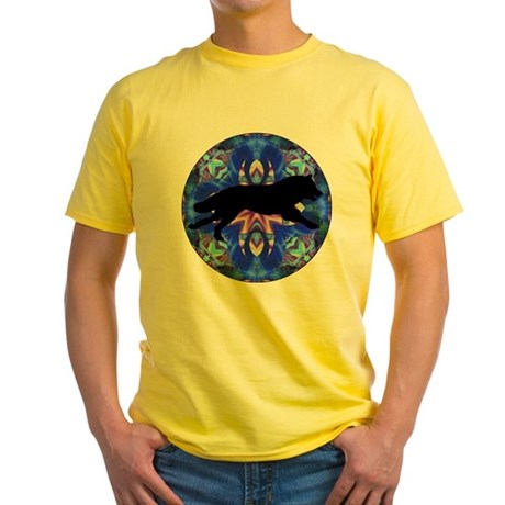 Running Wolf Yellow T-Shirt