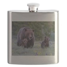 MAMMA GRIZZLY and CUBS Flask