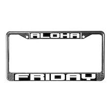 Aloha Friday License Plate Frame