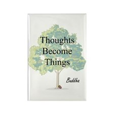 Thoughts Become Things Rectangle Magnet (100 pack)