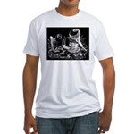 Etched Pigeon Trio Fitted T-Shirt
