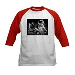 Etched Pigeon Trio Kids Baseball Jersey
