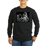 Etched Pigeon Trio Long Sleeve Dark T-Shirt