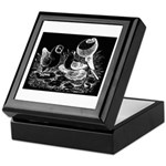 Etched Pigeon Trio Keepsake Box