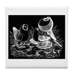 Etched Pigeon Trio Tile Coaster