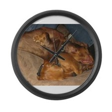 Sleeping Dachshunds Large Wall Clock