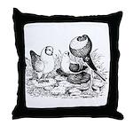 Pigeon Trio Throw Pillow
