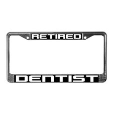 Retired Dentist License Plate Frame