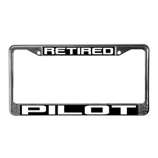 Retired Pilot License Plate Frame