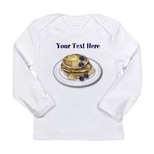 Pancakes With Syrup And Blueberries Long Sleeve T-