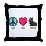 Peace Love & Scotties Throw Pillow