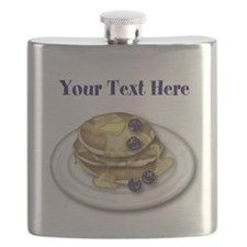 Pancakes With Syrup And Blueberries Flask