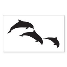Dolphin Silhouettes Decal