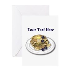 Pancakes With Syrup And Blueberries Greeting Card