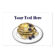 Pancakes With Syrup And Blueberries Postcards (Pac