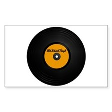 Old School Vinyl Record Rectangle Decal