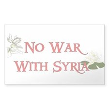 No War With Syria Decal