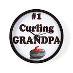 #1 Curling Grandpa Wall Clock