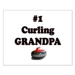 #1 Curling Grandpa Small Poster