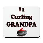 #1 Curling Grandpa Mousepad