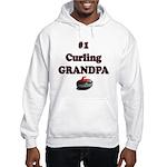 #1 Curling Grandpa Hooded Sweatshirt