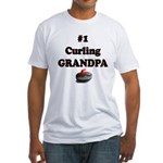 #1 Curling Grandpa Fitted T-Shirt