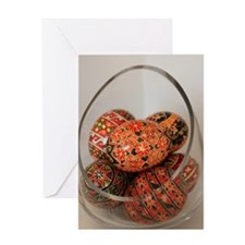 Eggs in Glass Vessel Greeting Card