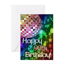 90th birthday disco ball and rainbow of stars Gree