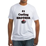 #1 Curling Brother Fitted T-Shirt