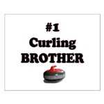 #1 Curling Brother Small Poster
