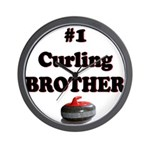 #1 Curling Brother Wall Clock